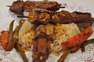 Turquoise Lamb Kebabs